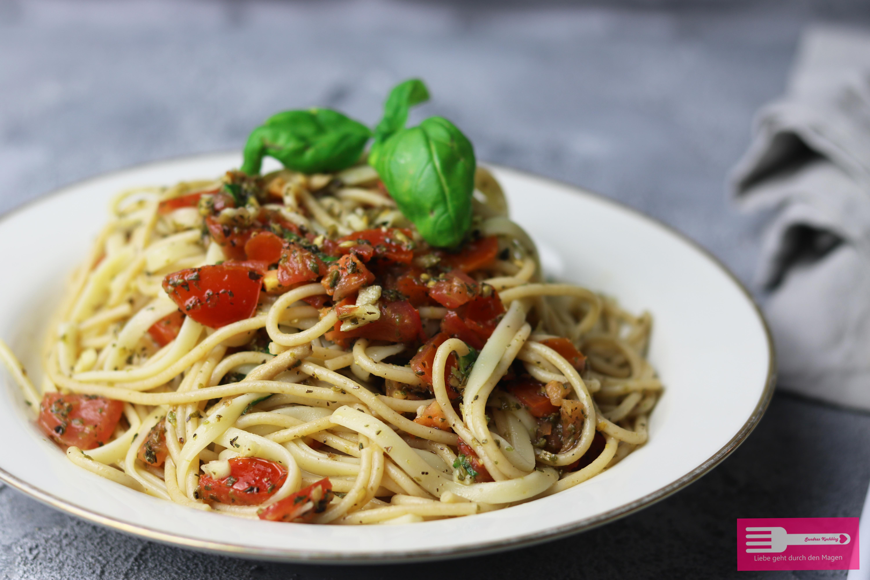 Spaghetti mit Kirschtomaten Jamie Oliver