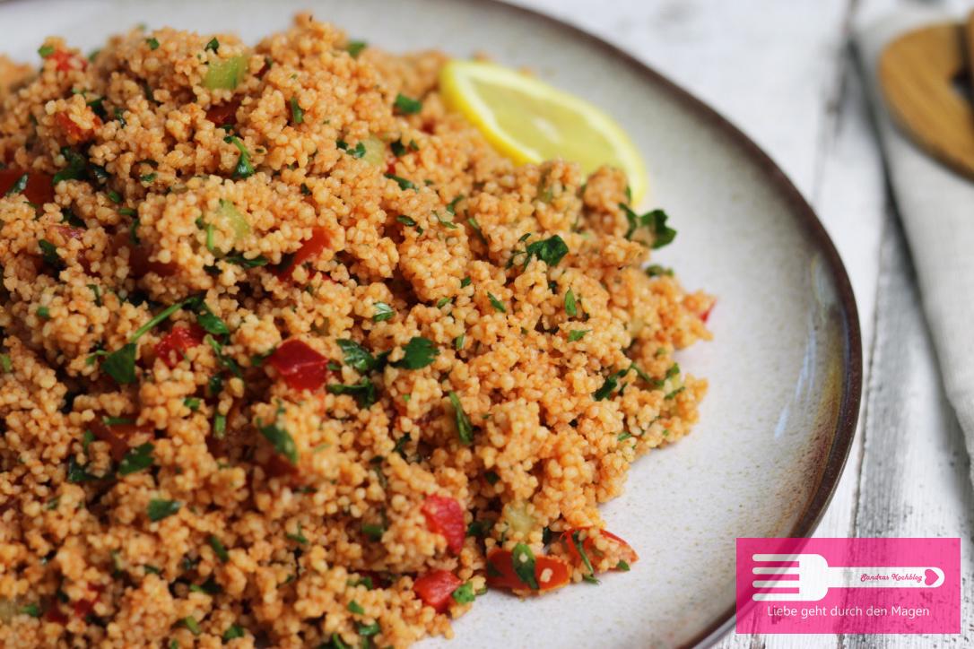 Couscous Salat perfekt als Grillbeilage