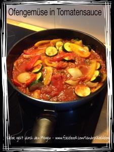 Ofengemüse mit Tomatensauce