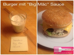 burger mit big m c sauce sandras kochblog. Black Bedroom Furniture Sets. Home Design Ideas