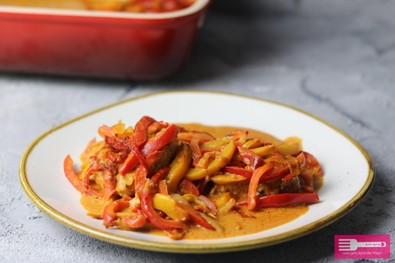 Paprika Sahne Schnitzel ohne Tütchen