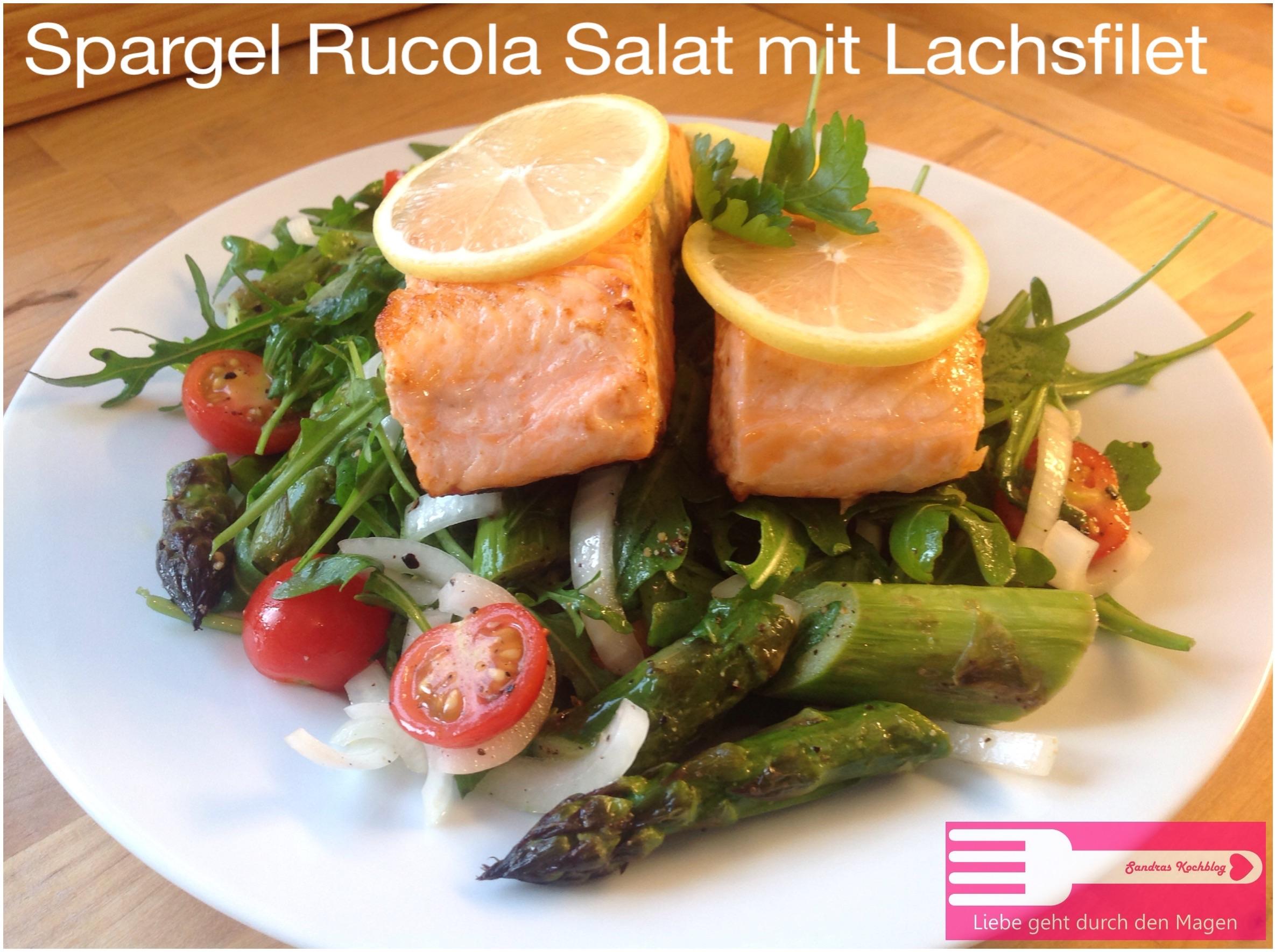 spargel rucola salat mit lachsfilet low carb sandras kochblog. Black Bedroom Furniture Sets. Home Design Ideas