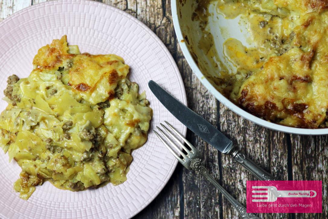 Kartoffel Kohlrabi Hack Gratin