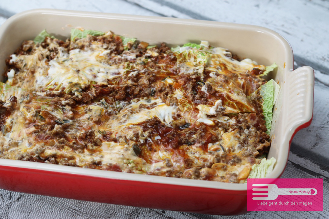 Wirsing Lasagne (Low Carb)