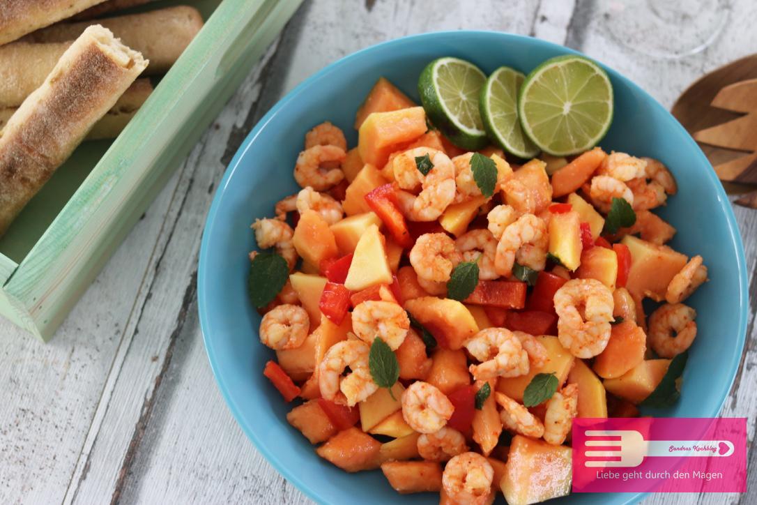 Papaya Garnelen Salat mit bio Garnelen von ALDI SÜD