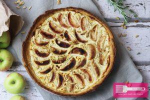 Apfel Ziegenkäse Tarte