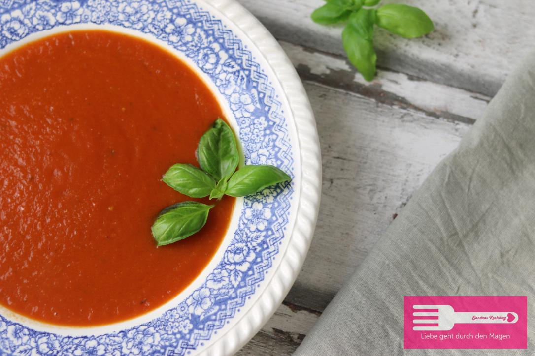 Schnelle und einfache Tomatensuppe