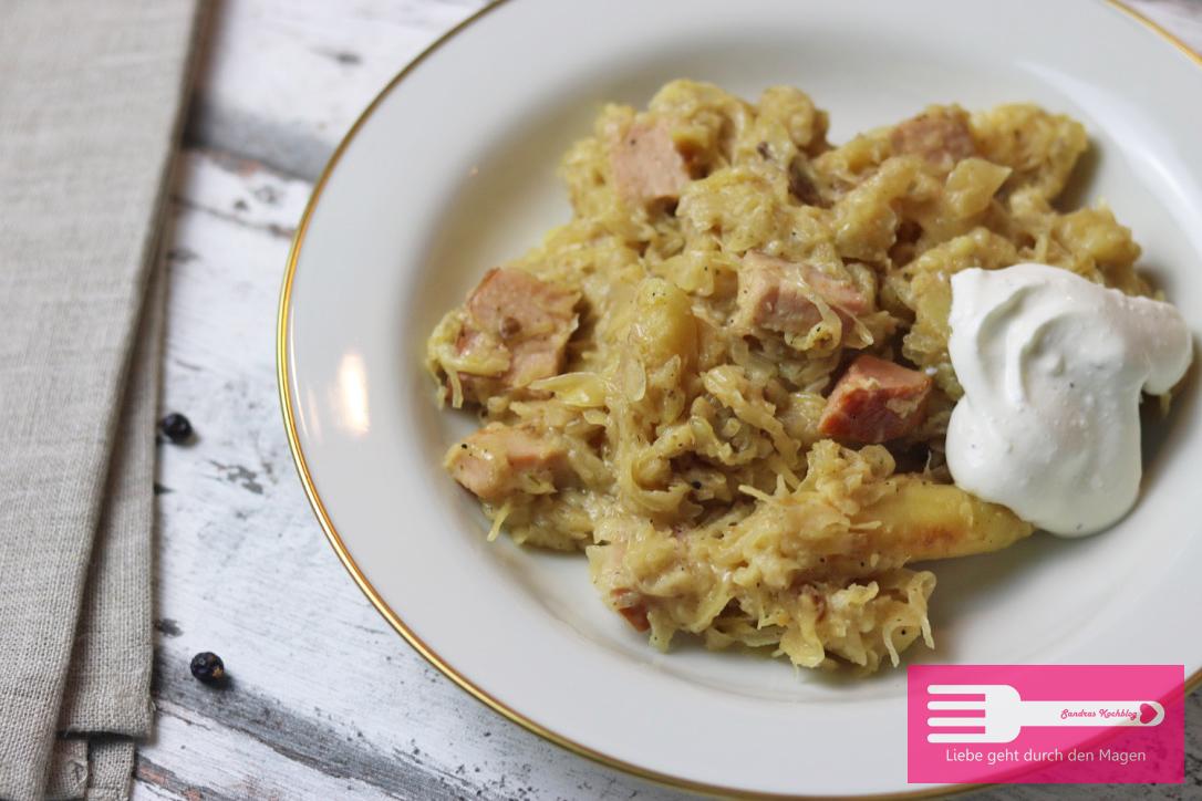 Sauerkraut Schupfnudel Kasseler Pfanne