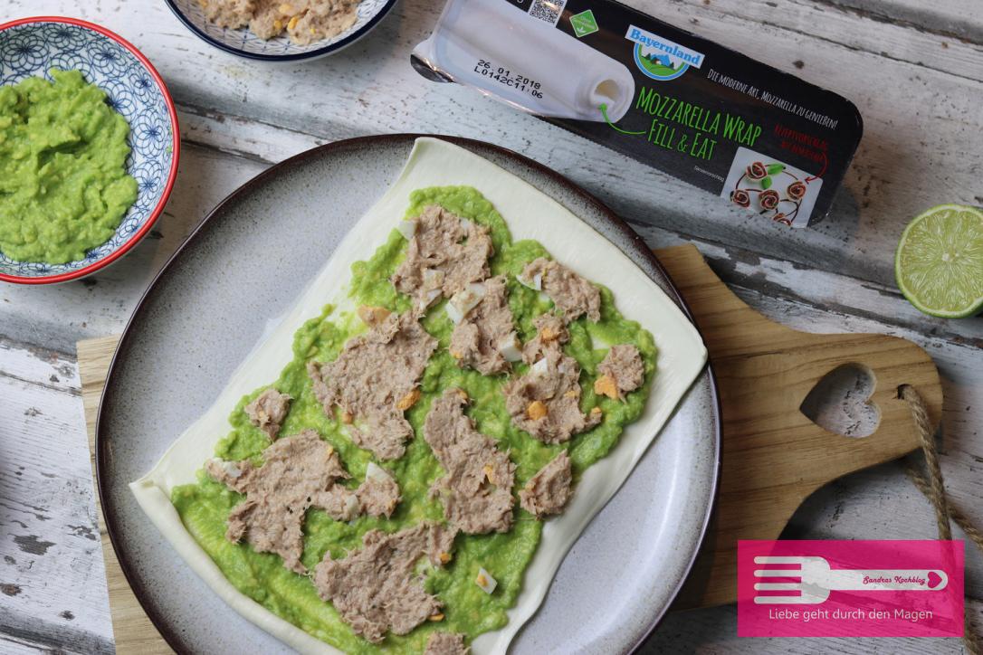 Mozarella Wraps mit Thunfisch und Avocado