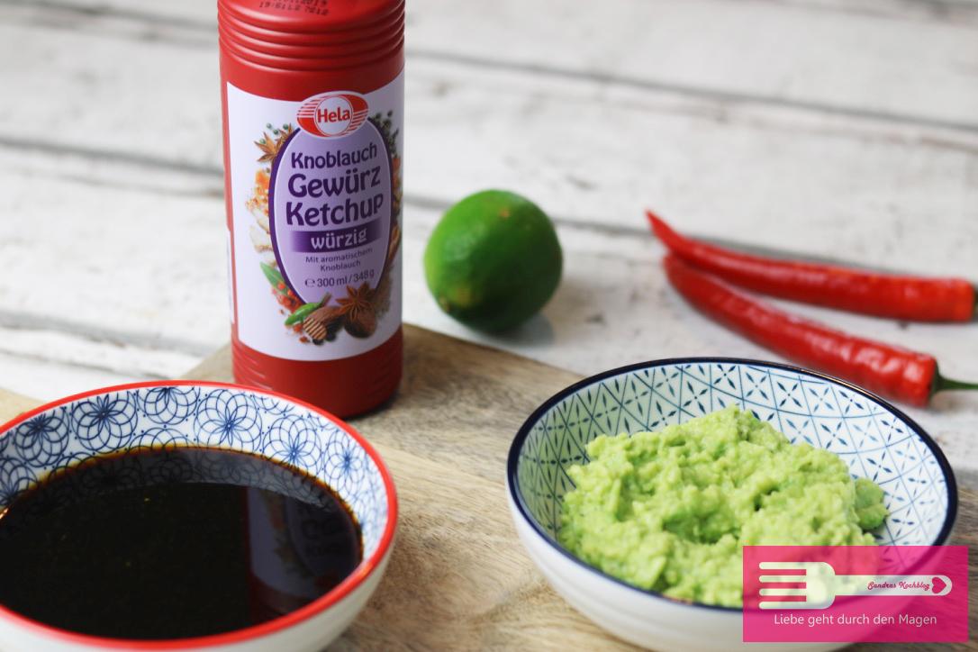 Marinade für Chickenwings mit Hela Knoblauch Gewürz Ketchup