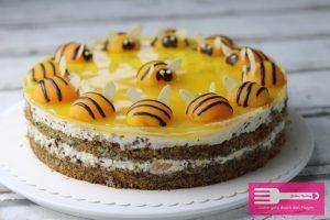 Bienen Torte Aprikosen