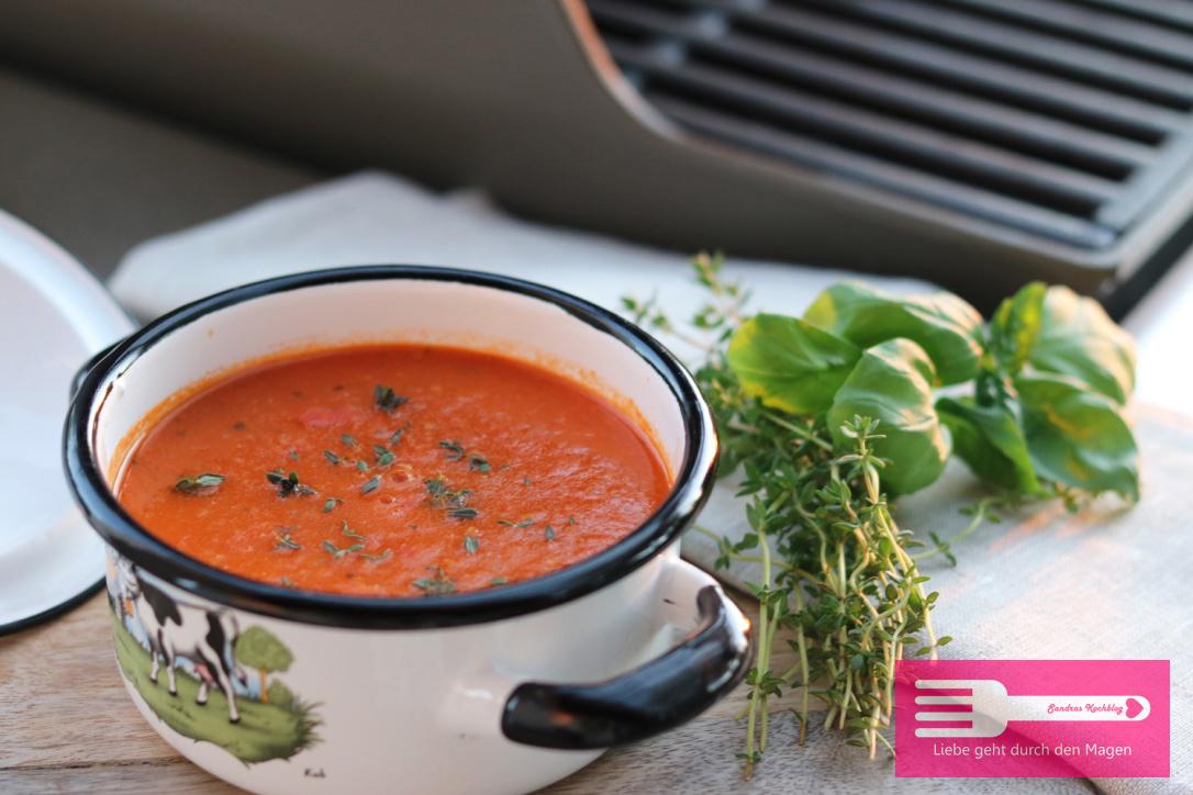 Tomatensuppe vom Grill (Low Carb) - Sandras Kochblog
