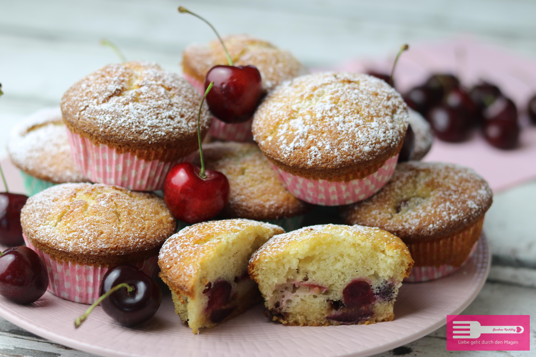 Kirsch Muffins schnell und einfach