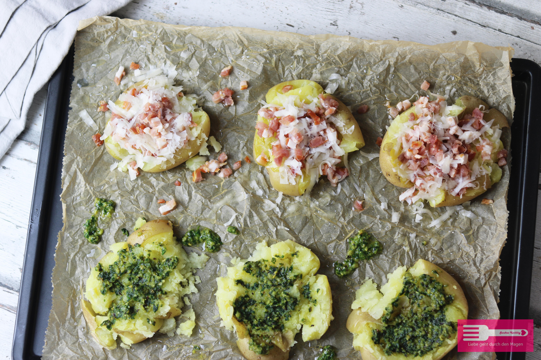 Smashed Potatoes / Quetschkartoffeln vom Blech