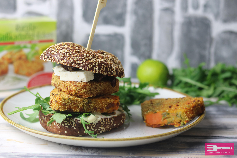 Rucola Süßkartoffel Burger vegetarisch