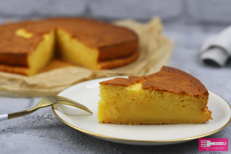Puddingkuchen mit Mandarinen